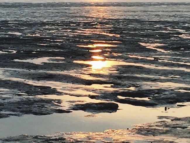Sunset teflection on low tide Tanjung Dawai Kedah
