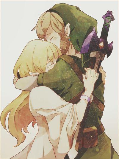 Link Zelda Fanart Hug