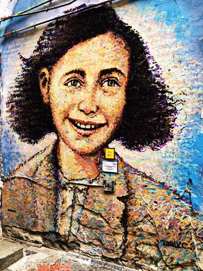 Anne Frank... Hackescher Markt Berlin, Germany  Artistic Expression Building Art Summer 2016 My Holiday 2016 Traveling Texan Gal EE Love Connection!