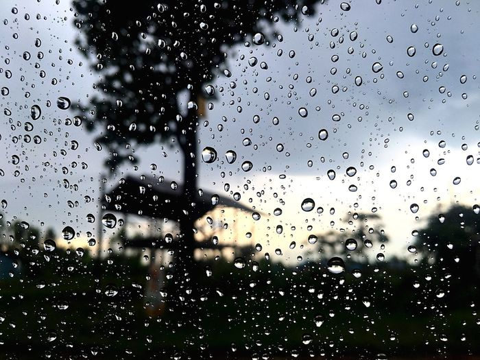 rain drop on car glass Window Drop Glass - Material Backgrounds No People Indoors  Water Full Frame Wet Day Nature Close-up RainDrop Built Structure Architecture Sky Tree RainDrop Silhouette