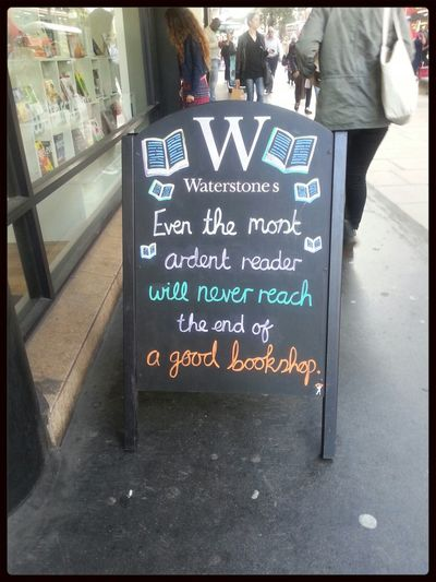 Waterstones message for all book lovers out there
