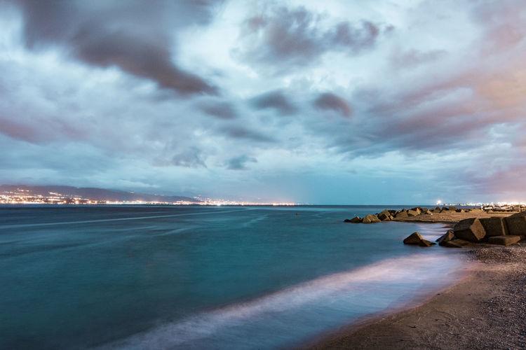Night seascape,
