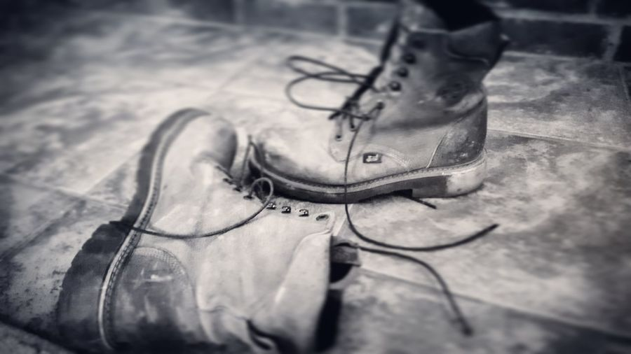 work hard Laceups Oil And Gas Workboots EyeEm Selects Shoemaker Shoe High Angle View Close-up Shoelace Tying Menswear Footwear