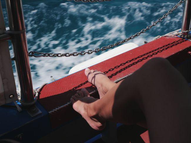 L.O.B. Bluelagooncomino Mediterranean  Boat Girls Legs Nicecolors Water Ferryboat Sea Blue First Eyeem Photo The Week On EyeEm EyeEmNewHere Comino Island Malta Cominoisland Cominoboat средиземноеморе якорь Море