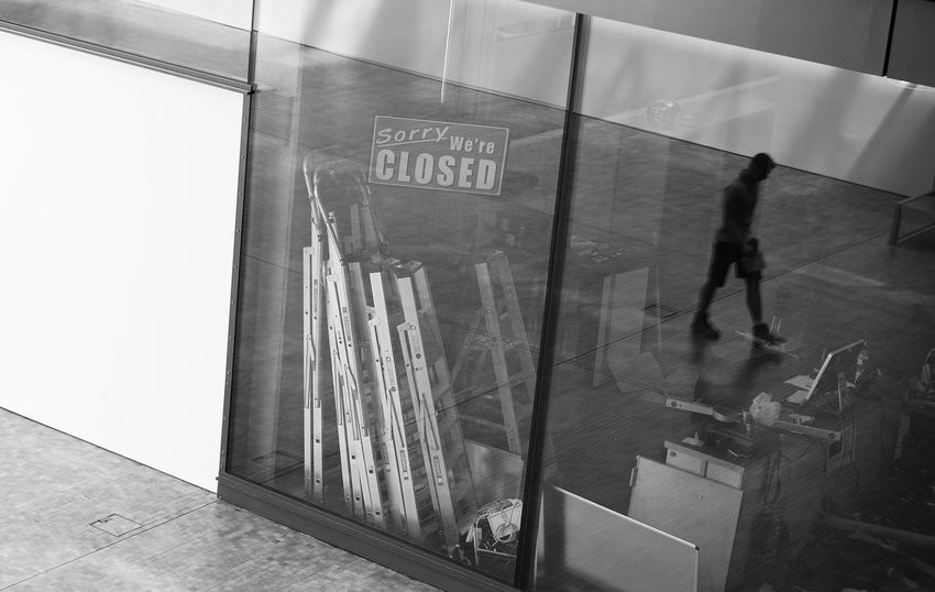 Sorry... Black & White Black And White Bw_collection Closed Closed Sign EyeEm Best Shots - Black + White EyeEm LOST IN London Reflection Reflection_collection Reflections Sign Text Unrecognizable Person Black And White Friday