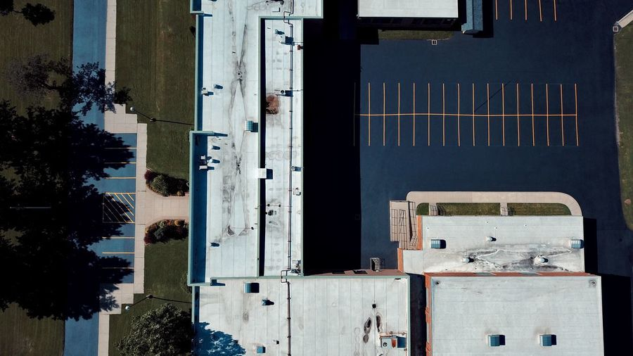 -Holland High- (Where my mom went to school) Architecture Building Exterior Mavic Pro Dronephotography Clean Overhead Drone  Birdseyeview Minimalism Simplicity Droneshot EyeEm Best Shots The Week On EyeEm