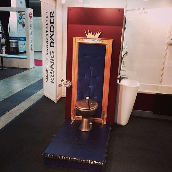 Das stille Örtchen für Königskinder... ;) #INTERGASTRA Königbäder Koenig Toilett Bad Koenigbaeder Bath King Stuttgart Show Messe Toilette König Messestuttgart Tradefair Intergastra Gelatissimo