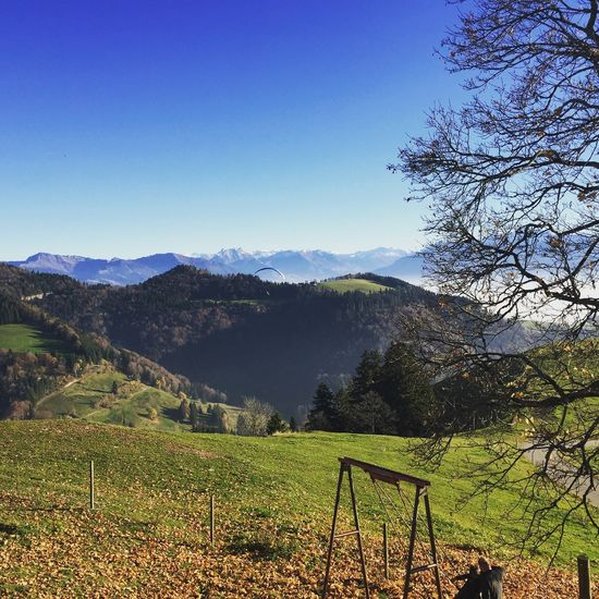 Hangglider,View towards Swiss Alps