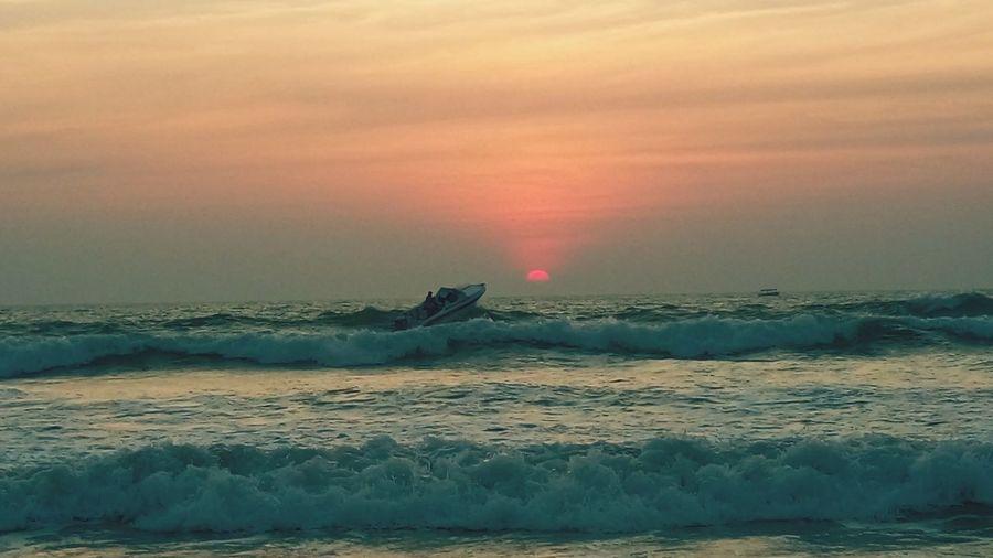 Sunset Majordabeach Goa India