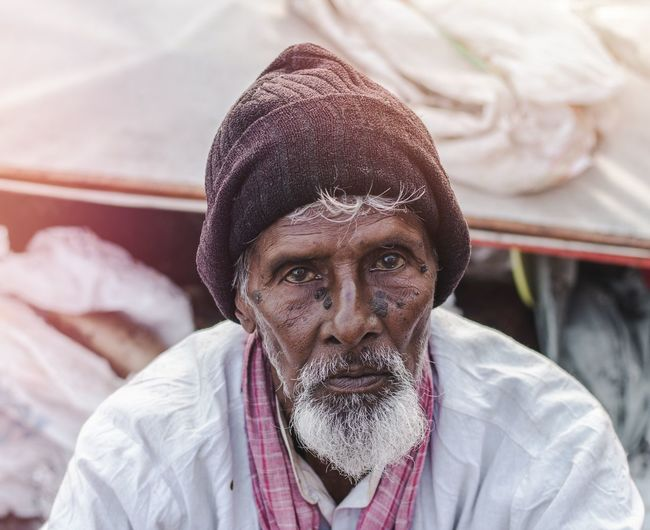 portrait from Yamuna ghat, Delhi, India 🇮🇳 2018. People People Photography Portrait Photography Portrait Of A Man  Portraits Travelportrait EyeEm Selects Portrait Men Headshot Front View Close-up Thinking Thoughtful Mustache Only Mature Men Facial Hair Beard Pretty