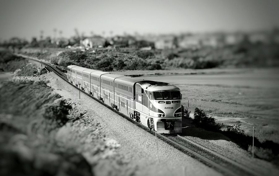 Catch A Ride On The Railroad Railroad Trains & Railroad Countryside Outdoors Perspective Photography Is My Therapy ForTheLoveOfPhotography Trains Amtrak Transportation Selective Focus EyeEm From My Point Of View Eyeem Market Eyeemphotography Eye4photography  Train Photography Amtrak Train Training Train Tranquility Black And White Black And White Photography