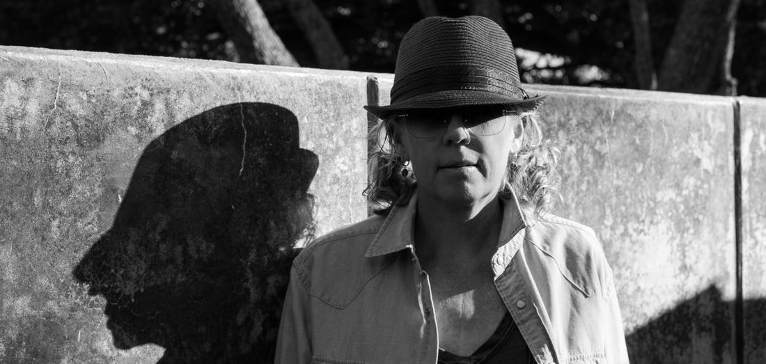 Casting a scary shadow Close-up Fedora  Hat Outdoors Shades Of Grey Shadow The City Light