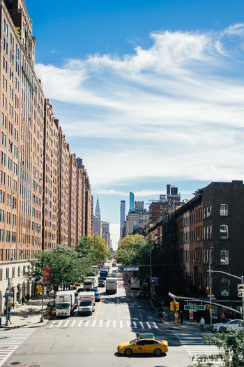 City City Life New York Cityscape Street Architecture Built Structure City Street Outdoors Taxi Road