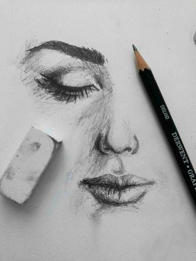 #hazemgarip #beautiful New Drawing @AdrianaMartelli #hazemgarip Art And Craft Indoors  Pencil Creativity Writing Instrument Sketch Still Life