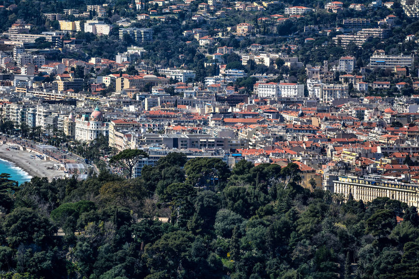Architecture City City Life Cityscape France Nature Promenade Promenade Des Anglais Tree Architecture Beach Building Exterior Built Structure City Cityscape Crowded Day French Riviera High Angle View Hill Nature Nice France Outdoors Streetphotography Tree