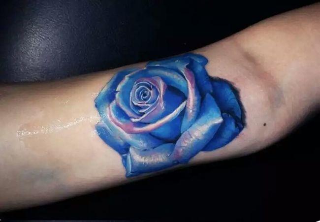 Tattoolife Tattoomodels Tattoo ❤ Tattooartist  Tattoo Design Roses🌹 Rosasazules azul