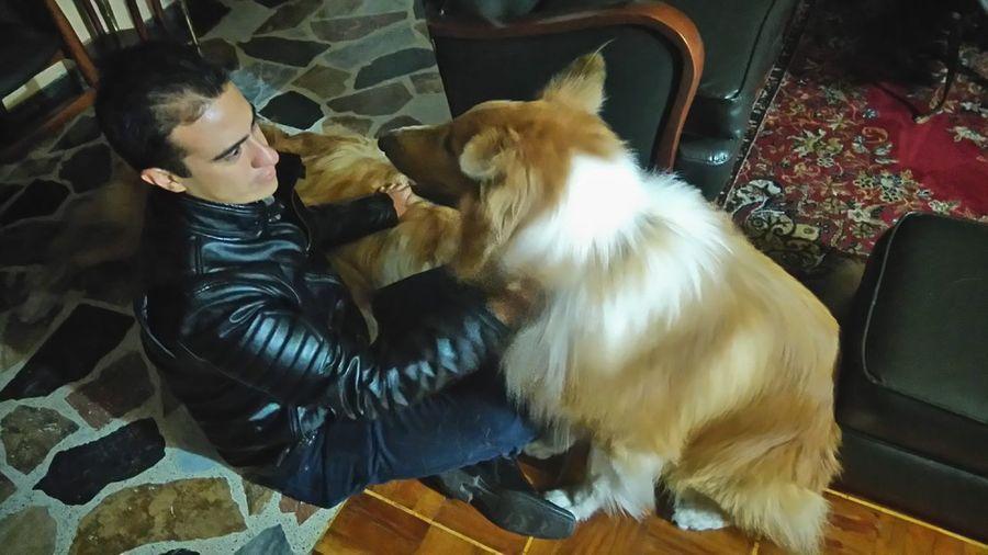 Bogota,colombia. Haldir DogLove Goodfather Visit Friendship Barrio Santana
