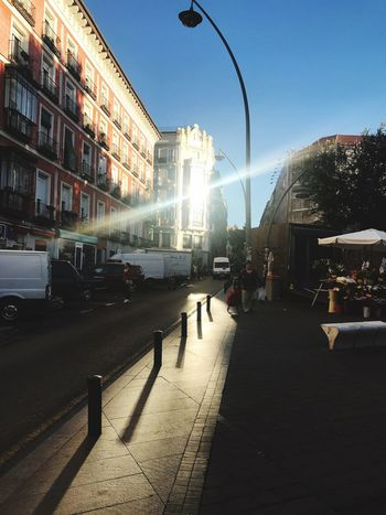 Sunlight Streetphotography Architecture Built Structure Street Transportation Sky Day Clear Sky