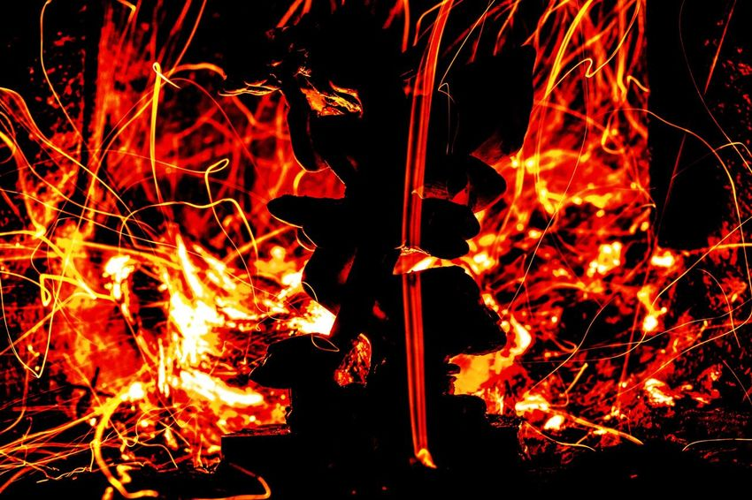 Heat - Temperature Flame Burning Glowing No People Night Outdoors Motion Red Close-up Fireball Shadow And Light Flame Flames Flame And Fire Fire And Flame Red Exposure Exposure Experimentation Exposure Bracketing Red Light Red Lights Angel Angels Angel Wings