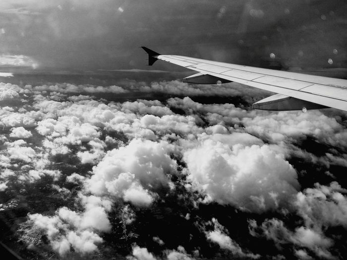 Black And White Friday Flying Airplane Transportation Aerial View Sky Cloud - Sky Air Vehicle Day Travel Nature Blue Outdoors Plane No People Scenics Technology Photography Themes Be. Ready. EyEm New Here EyeEmNewHere