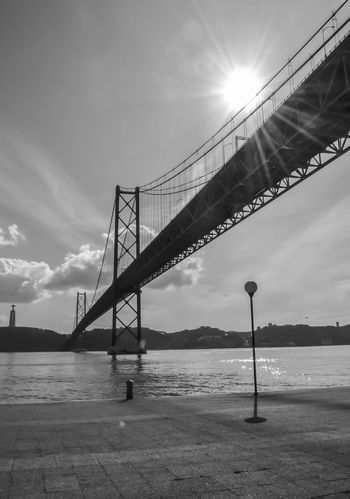 Black & White Blackandwhite Blackandwhite Photography Brige Photo Connection Day Engineering Iron Light Metal Metallic Monochromatic No People Side By Side Silhouette_collection Sky Structure Sun Sunshine SUPPORT Technology
