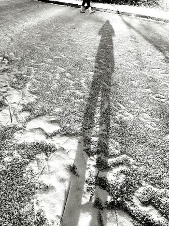 Sunlight Shadow Day Outdoors Textured  No People Snow Iced Frozen Pond Eyemcollections Eyemgallery Eyemphotography Winter Pleasure Sunlight Blackandwhite Photography