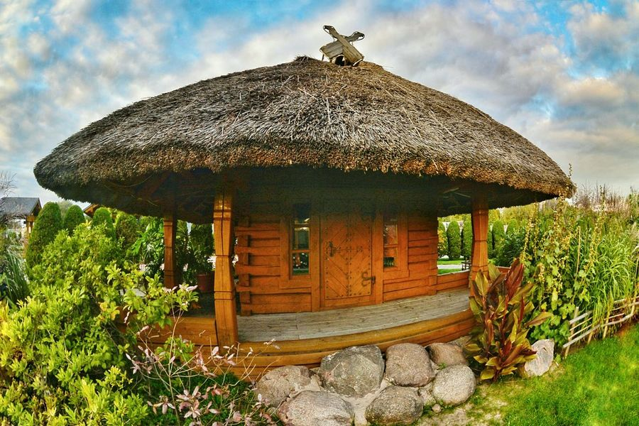 cute house Outdoors No People Architecture Thatched Roof Little House Wooden House