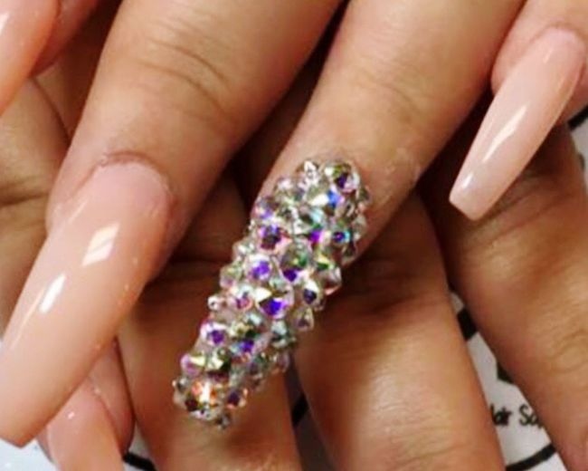 Best Day Nails Done Close-up Bling Bling Human Finger Beauty Girly One Woman Only Corpus Christi Texas Nail Polish <3 Nail Art