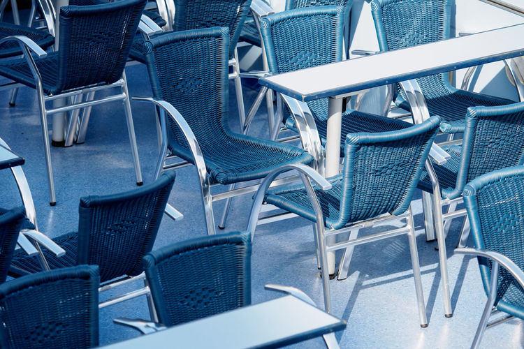 Blue Chairs The Week On EyeEm Blue Chair Close-up Day Folding Chair No People Outdoors Seat Twodays