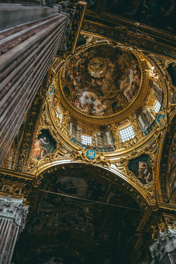 Archs in a catholic church Architecture Built Structure Place Of Worship Religion Spirituality Belief Building Low Angle View Building Exterior Travel Destinations No People History The Past Ceiling Art And Craft Ornate Architectural Column Mural My Best Photo