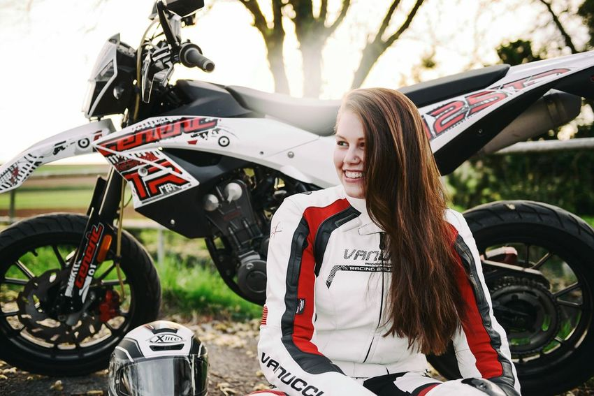 Outdoors People Portrait Germany Light And Shadow Photography Shootermag Eye4photography  EyeEm Best Shots The Week Of Eyeem Beauty Sun Girl Long Hair Motorcycles Supermoto Stuttgart Heilbronn