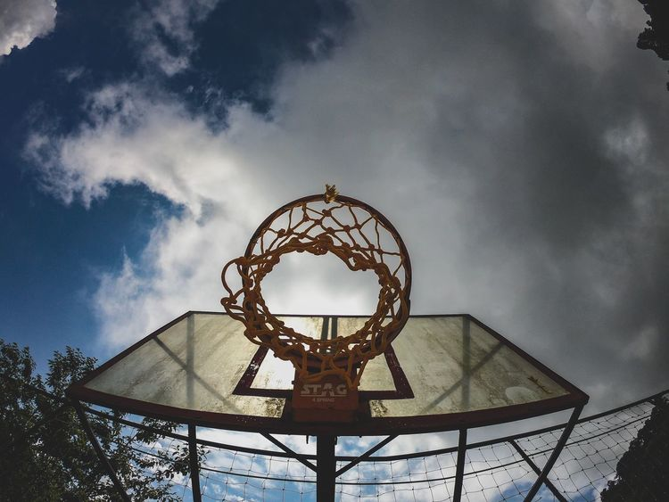 Wideangle Fisheyes Goproindia Basketball Hoop Alonetime Photography Basketball Gopro GoPrography GoProhero6 Sport Outdoors Metal No People Day