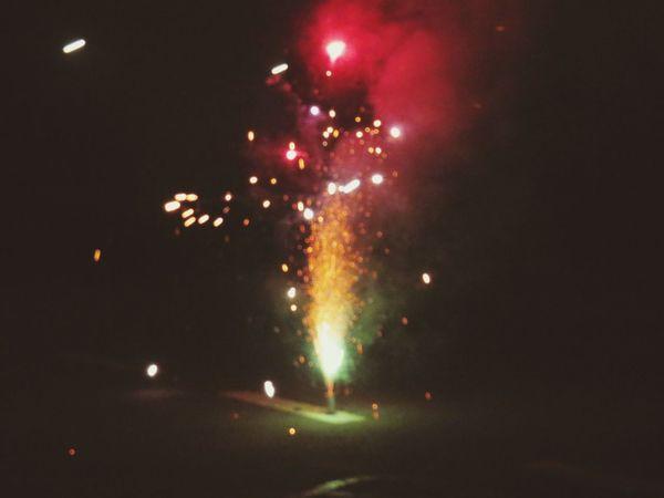 Silvester Taking Photos Feuerwerk