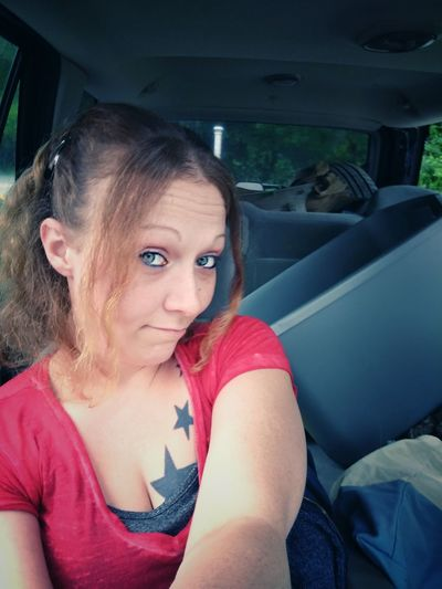being silly selfie Check This Out Michigan Pure Michigan Selfie ✌ EyeEm Outdoors Summer Views That's Me! Being Silly Real People Tattoos Eyeem Photography Portrait Of A Woman Being Cute Those Eyes Blue Eyes EyeEm EyeEm Portraits Selfie Portrait My View Me Nice Day Makeup Portrait Sitting Looking At Camera Car Interior Car Women Young Women Close-up