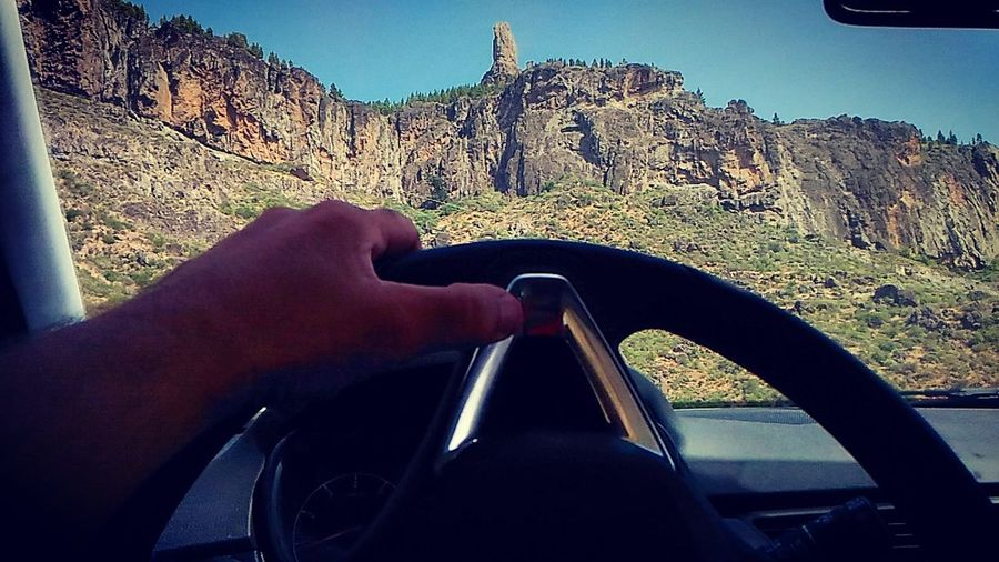 From My Car Rockes View Point Best Panorama On The Road Rent Car Stone Wall Mountains Mountain View