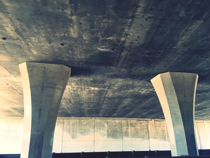 Underneath freeway bridge Architecture Built_Structure Indoors  Low Angle View No People Day Underneath Urban Art Is Everywhere Break The Mold Let's Go. Together. The Graphic City California Dreamin
