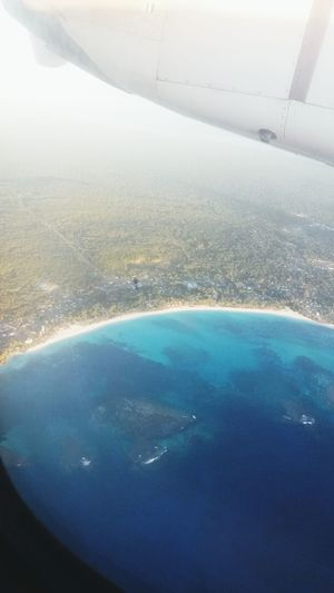 Beach From The Plane Window Lifou 2014 My Island