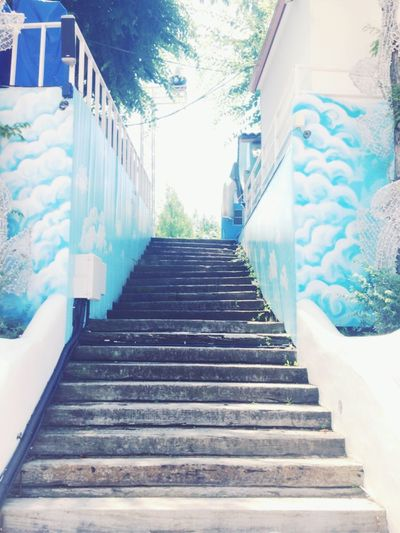 Steps Steps And Staircases Staircase Built Structure Railing The Way Forward Architecture Day Stairs Outdoors Building Exterior No People Hand Rail Sky Cheongdo-gun
