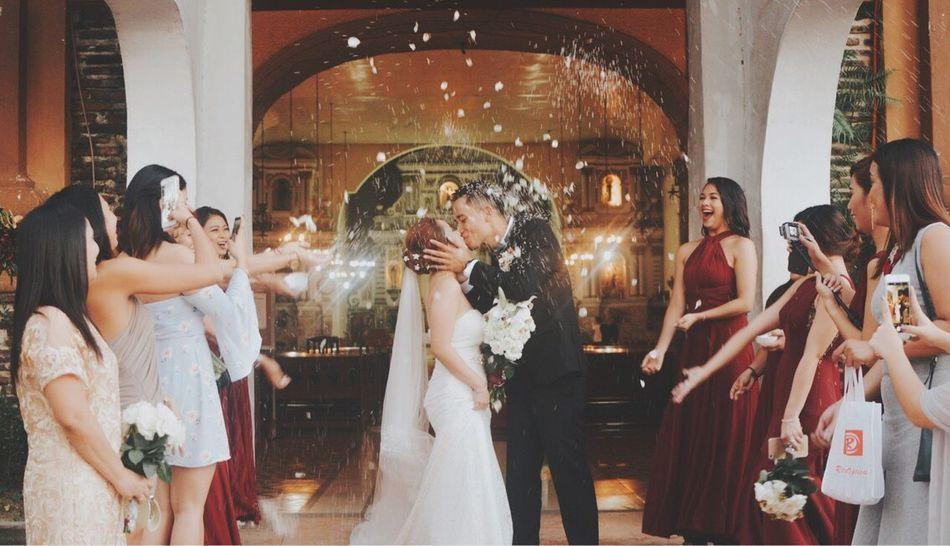 Ayna pearl + Guerrero Wedding Bridegroom Togetherness Love Married Kiss