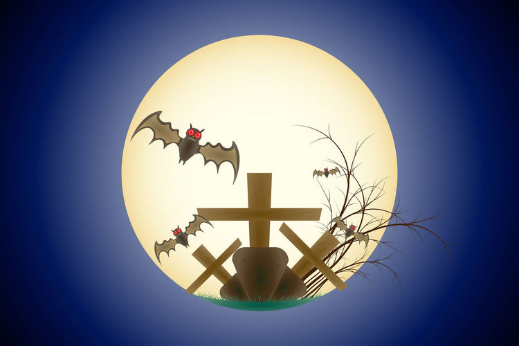 Happy Halloween, bat, twigs, with the moon, background scenes, shades of purple Happy Halloween Grave Bat Flying In The Moon Scene Background Gr Sky No People Nature Blue Circle Shape Clear Sky Geometric Shape Vignette Sphere Digital Composite Belief Outdoors Close-up Architecture Religion Blue Background Plant Day