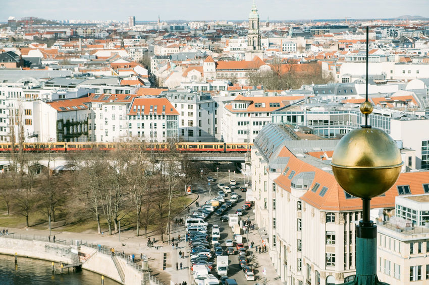 Berlin Cathedral Berlin Dome  Berliner Dom Tourists Architecture Bridge Building Building Exterior Built Structure City City Life Cityscape Community Crowd Crowded Day Dome High Angle View Nature Outdoors Place Residential District Roof Street TOWNSCAPE