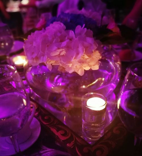 La Boda Close-up Purple Flower Nightlife Wedding Wedding Decoration Wedding Details