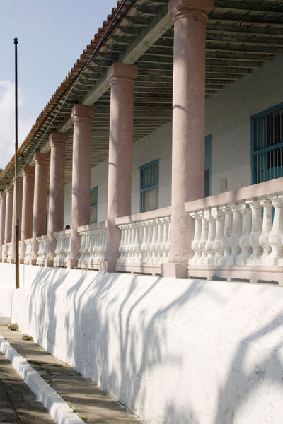 Cuba Cuba Collection Architectural Column Architecture Balustrade Building Building Exterior Built Structure Cold Temperature Colonnade Day In A Row Nature No People Outdoors Railing Shadow Sky Snow Sunlight White Color Winter
