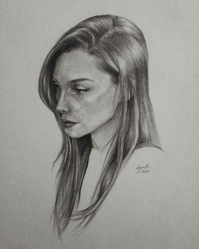 Draw Girl Blackandwhite Nocolor ışıltı 😚