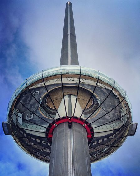 Sky Tower I360 British Airways I360 Brighton Sussex Marks Barfield Mirror Reflection Reflections Vertical Vertical Symmetry Jetsons Outdoors