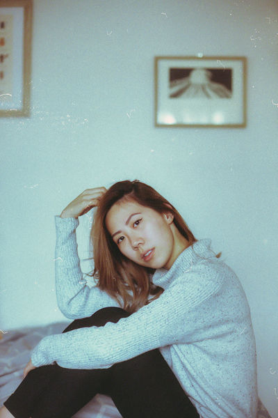 Adult Analogue Photography Close-up Day Depression - Sadness Film Film Photography Filmisnotdead Girl Home Interior Indoors  One Person People Portrait Portrait Of A Woman Portrait Photography Real People Relationship Difficulties Sitting The Portraitist - 2017 EyeEm Awards Young Adult Young Women