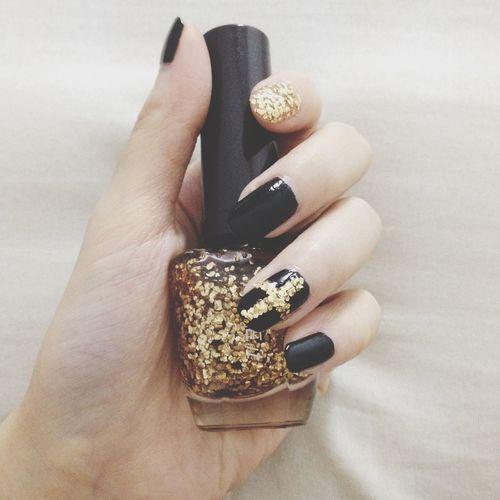 Black x Gold My Nails  Black Gold