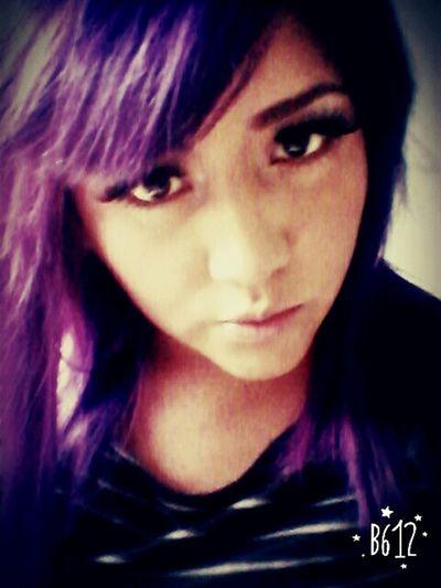 That's Me Purple ♥ Beautiful Girl Purplehairdontcare Purplehair Beautiful ♥ Pretty :) Beauty