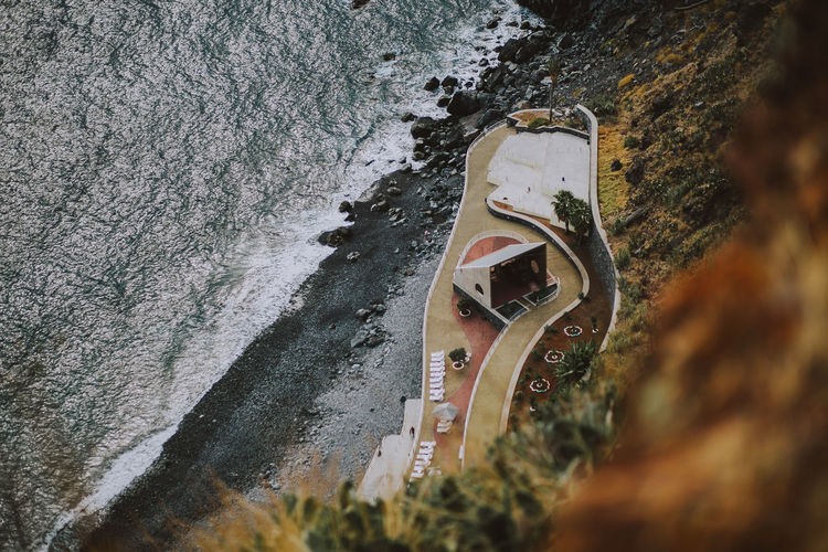 Madeira Madeira Island Portugal Nature Sea Ocean High Angle View Blacksand Travel Destinations Roadtrip Vacations Relaxing Day Outdoors