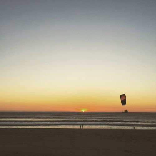 Fly Fly Fly Sky Sea Water Scenics - Nature Land Sunset Horizon Over Water Horizon Beauty In Nature Beach Tranquility Nature Parachute Parasailing Tranquil Scene Outdoors My Best Travel Photo